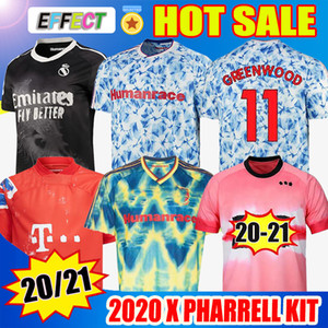 20 21 REAL MADRID Manchester United Cavani Munique Arsenal Bayern Juventus X PHARRELL WILLIAMS Foth 4th MEN Camisas de futebol infantil especiais 2020 Jersey Football