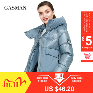GASMAN Brand autumn winter fashion Women parka down jacket hooded patchwork thick coat Female warm clothes puffer jacket new 001 201109