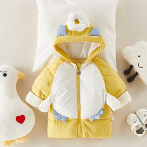 Children's Down Coat Winter Baby Boys Girls Cotton-padded Parka & Coats Thicken Warm Long Jackets Toddler Kids Outerwear