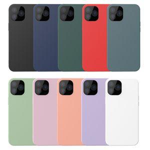 Casos colores del caramelo de TPU para el iPhone Mini 12 / Pro / Pro Max suave ultra delgado teléfono celular protector de la cubierta helada de 10 colores a prueba de golpes