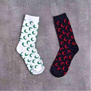 New Fashion marine Serre classic moon full print middle tube socks jacquard campus moon teeth pattern tide brand socks
