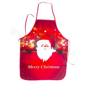 Decoração Feliz Natal Avental do Natal de Papai Noel para o partido Home festival Xmas presentes dos desenhos animados da cintura aventais FFA4518-2