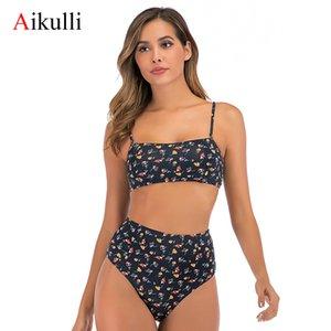 Aikulli Sexy Bikinis Print Push Up Bikini 2020 новый мягкий бюстгальтер ремни высокой талии два частя купальники женские купальники женщины бикини T200509