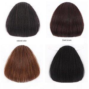 100% heterosexuales heterosexuales Human Natural Hair Bangs Fringe Frontal Stealth Stealth No Trace Pelo Bang Clip en pieza de pelo Extensión de la peinado