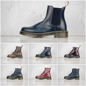 Martin bottes 1460 style britannique pour hommes et semelles épaisses en cuir des femmes tube mi Dr. Martin polyvalent bottes en cuir de mode