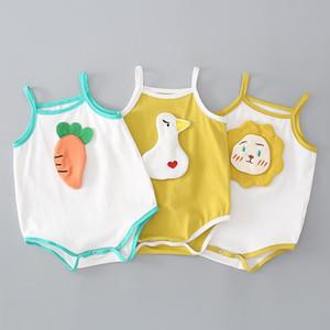 2020 Summer New Boy Baby Cartoon Jumpsuit Female Baby Romper Animal Bezel Strap Bag Fart Clothes