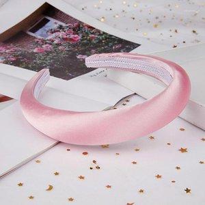 Party Favor Persönlichkeit 2,5 cm Breite 1,5 cm dicke handgemachte satin runde stirnbänder sponge kunststoff pad hoop haare headwear geschenk girls1