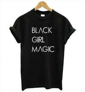 Black Girl Magic Letters Print Women Tshirt Cotton Casual Funny T Shirt For Lady Top Tee Hipster Tumblr Drop Ship Z 975