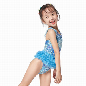 Mermaid Girls Swimsuit Children Swimwear One-Piece Swimming Skirt Kids Summer Beach Wear Cartoon Swim Dress Child Bathing Suit