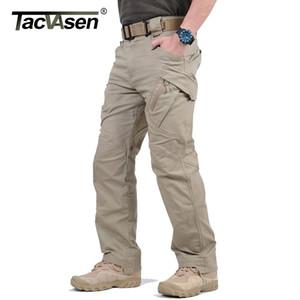 Tacvasen IX9 City City Pantalons tactiques Mens Poches Multi Pantalon Militaire Combat Military Coton Pantalon Swat Armée Pantalon occasionnel Randonnée Pantalon 201116