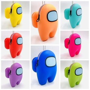 Among us Purse Coin Wallet For Kids Adults Silica Gel Cute Earphone Case For Pods Protective Soft Cover 2020