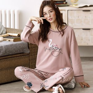 M l xl xxl xxxl 4xl 5xl المرأة منامة مجموعات لطيف الحيوان الفتيات النوم البيجامات البدلة ملابس المنزل أكبر بيجامة فام 201031