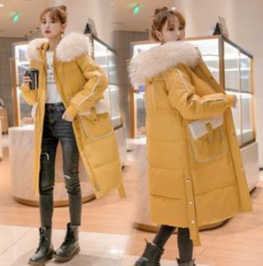 Wholesale winter new style loose women mid-length pocket stitching lamb hair down padded jacket
