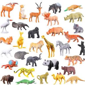 53 pcs set Mini Animal World Zoo Model Figure Action Toy Set Cartoon Simulation Animal Lovely Plastics Collection Toy For Kids 1008