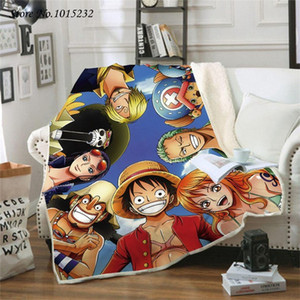 Anime One Piece 3D Printed Fleece Blanket for Beds Thick Quilt Fashion Bedspread Sherpa Throw Blanket Adults Kids