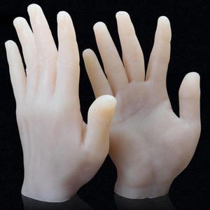 Tattoo Artificial Hand FDA Grade Silicone Made Tattoo Practice Silicone Hand Left Right Hand Practice Skin Tattoo Accessories