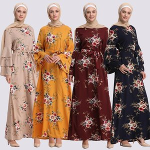 New Fashion Muslim Print Dress Women Abaya and Hijab Jilbab Islamic Clothing Maxi Muslim Dress Burqa Dropship March Long skirt