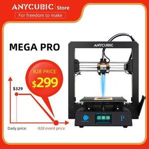 Anycubic Mega PRO 3D Stampa Laser Incisione laser 2-in-1 Telaio in metallo Stampante 3D Mega s Upgrade Dual Gear Extruder Impresora1