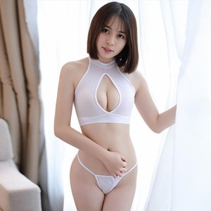 [Wanna turn your husband on? Lets try this, girl!] Sexy See through Erotic clothes Women tops and thong two piece set