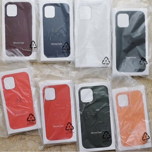 Hot Silicone Case Full Edge Phone Back Cover Cases with High Quality Retail Box for 12 Mini Pro Max