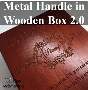 New customized Stamp with metal handle,Retro Sealing Wax copper Stamp in wood Box with Sealing Wax league DIY gift ancient 1019