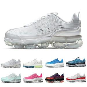 Üçlü Beyaz Lazer Mavi Işık Aqua Örgü 360 Erkek Kadın Açık Ayakkabı Kraliyet Krem Metalik Gümüş 360s Erkek Eğitmenler Spor Sneakers