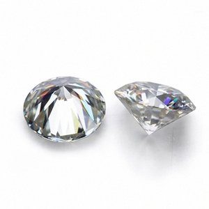 D Blanco Color de VVS forma redonda suelta sintético Moissanite diamante 0.6CT a 2CT Excelente Cut1 q41E #