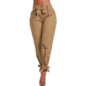 Леди'АЗазные брюки сплошные цветные талии скважины новое поступление лето осенние женские брюки модные брюки плюс размер 201109