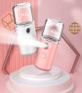 USB de charge Humidifier Pulvérisateur Macaron Nano portable visage Steamer Hydratante Soins de la peau de vapeur hydratant Humidificador froid Vaporisateur DWB2442