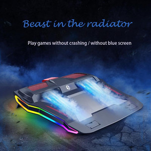 2020 New RGB Gaming Laptop Cooler Adjustable Notebook stand 3000 RPM Powerful Air Flow Cooling Pad For 12-17 inch Laptop