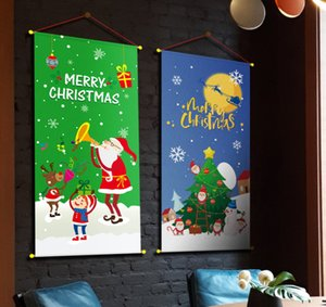 The latest models are many styles, 80X40CM size, Christmas hanging cloth, Christmas tree hanging banner, party, hotel wall cloth decoration