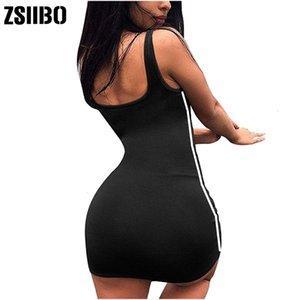 Zsiibo verão sexy bandage bodycon sem mangas festa de noite clube curto mini vestido 2019 moda mulheres roupas roupas