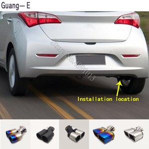car body stickers cover muffler exterior back end pipe dedicate exhaust tip tail outlet ornament 1pcs For 20 2013-2020