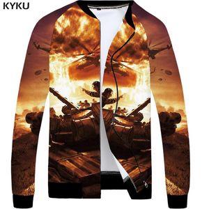 KYKU Brand Statue Of Liberty Jacket Men Flame Jackets Anime Clothes Usa 3d Print Coat Character Mens Clothing Jacket Ne