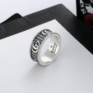 Moda 925 gümüş kafatası yüzük moisanit Anelli bague kutu 666 ile erkek ve kadınlar Parti Düğün nişan takı severler hediye