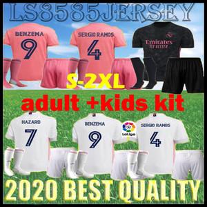 2021 Реал дома ОПАСНОСТИ Дети Kit футбол Джерси 2020 Тайских Высочайшего качество BALE Asensio Man футбол рубашка Джерси Модрич Марсело Третьего футбол
