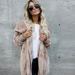 [Lakysilk] Зимние теплые втулки летучей мыши Женский кардиган с капюшоном рыхлой Повседневный Длинный свитер для женщин толстой сплошной плюс размер женщин пальто 200929