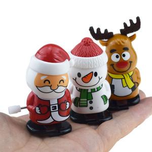 Personagens linda Plastic Natal Windup Brinquedos Papai Noel Boneco Clockwork Brinquedos Crianças salto dos desenhos animados Presentes de Natal VT1759