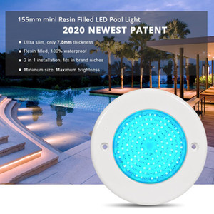 Submersible LED Lights RGB IP68 7.5mm Outdoor 12V Multicolor Waterproof Pool Lamps With Wifi Controller 12W Free Shipping