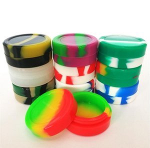 Silicone Oil Storage Box Roundness maquillage Organization Jar Food Grade Non-stick Dabber Wax Oil Containers Jars Varity Colors Jar AHD1369