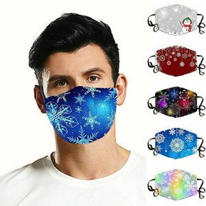 Christmas Xmas Face Mask Washable Breathable Reusable Mouth Protection Cover Print Snowflakes for Women Men Kids Gifts