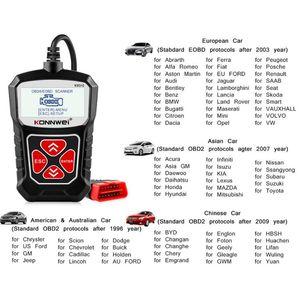 Universal KONNWEI KW310 OBD2 OBD 2 para Auto Herramientas escáner herramienta de diagnóstico del coche Automoción rusa