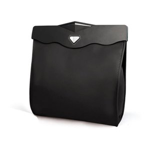 Car garbage bag ABS leather black beige environmentally friendly travel, Strong leak-proof and wash-free Convenient and practical
