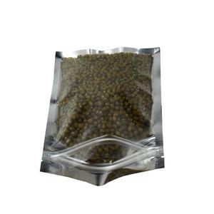12*20cm Heat Sealable Clear Mylar Plastic Zipper Bag Package Retail Reclosable Silver Aluminum Food Grade Packing Zipper Zip Lock Bags sdf
