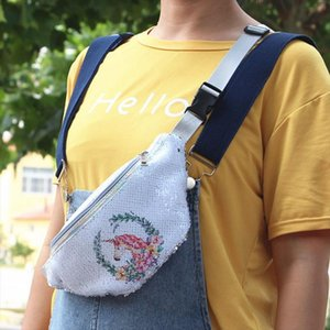1 Pc Cartoon Sequined Waist Bag Children Sport Unicorn Purse Chest Bag Girl Money Wallet Waist Kawaii Running Belt