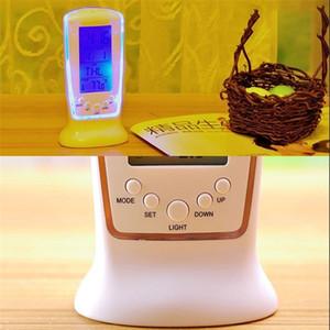 LED Digital Alarm With Blue Backlight Reloj Despertador Electronic Watch LCD Display Calendar Thermometer Desk Clock