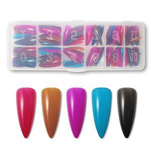 120pcs box files Nails Extension System Full Cover Press on Sculpted Base Color Stiletto False Fake Nail Tips Long Ballerina