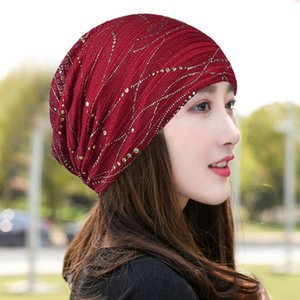 Spring summer thin lace Women's hats chapeau Beanie chemo cap peaked cap bucket hat beanie cap Bonnet Panama Hat for women 201008