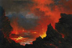 Büyük soyut Volkan Çerçeveli Çerçevesiz EV DEKOR% 100 Açık Tuval Wall Art Pictures ER83 boyama Hayvan yağı El-boyalı