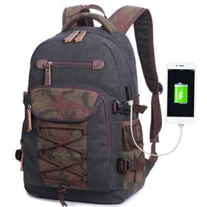 Backpack Canvas Men'S Rucksack Sport Fashion Simple Double-Shoulder Tactical Schoolbag Hot Selling